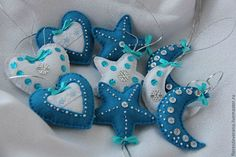 Новогодние игрушки из фетра. Идеи