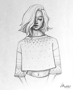 Джайкарн ПРОЛОГ — Фобс — @дневники: асоциальная сеть - Aria Teenage Girl Drawing, Girl Drawing Easy, Girl Drawing Sketches, Cool Art Drawings, Pencil Art Drawings, Easy Drawings, Tumblr Sketches, Sketches Of Girls, Couple Drawings