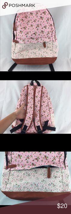Backpack Floral backpack. Has a smaller front pocket Bags Backpacks