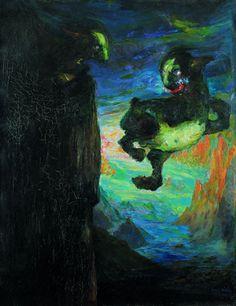 Emil Nolde 1901,Vor Sonnenaufgang