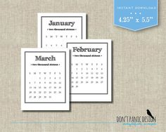Printable Adventure Desk Calendar   Month Adventure
