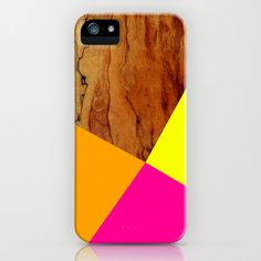 Wooden Colour Blocking iPhone & iPod Case
