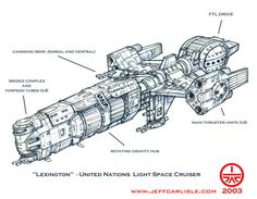 Lexington, light space cruiser