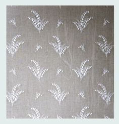 Lily Of The Valley Nottingham Lace Curtain and Yardage - LOTV12412