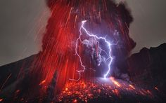 Sakurajima Volcano with Lightning  Image Credit & Copyright: Martin Rietze (Alien Landscapes on Planet Earth)  http://apod.nasa.gov/apod/ap130311.html    Why does a volcanic eruption sometimes create lightning? Pictured above, the Sakurajima volcano in southern Japan was caught erupting in early January. Magma bubbles so hot they glow shoot away as liquid rock bursts through the Earth's surface from below...  Expand this post »