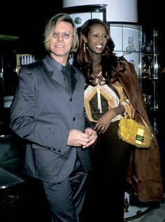 David Bowie with wife Iman