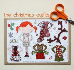 (Clara Paper Doll 3 of 4) Adorable—she has several Christmas looks—a great stocking stuffer❣