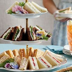 Easy & Elegant Tea Sandwiches | The tea sandwich is a quintissential finger food for luncheons and parties. Try these charming and delicious treats for your next get together. Click through for recipe!