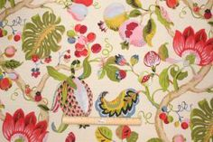 The Fabric Cellar-Clearance :: P. Kaufmann Holiday Printed Cotton Drapery Fabric in Special Red $7.95 per yard - Fabric Guru.com: Fabric, Di...