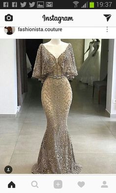 2019 Deep V-Neck Long Evening Dress Luxury Customized Beading Tulle Long Sleeve Mermaid Party Long Dress Formal Robe De Soiree Pretty Outfits, Pretty Dresses, Elegant Dresses, Formal Dresses, Peach Prom Dresses, Glamorous Dresses, Elegantes Outfit, Mode Outfits, Beautiful Gowns