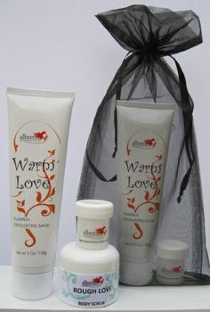 Bridal Party Gifts! We've got your bridal/bachelorette party gifts all tied up in a sexy little package!  Treat your girls to a little Love -  This gift package includes a tube of Warm Love pumpkin exfoliating facial mask, a small jar of Rough Love body scrub and Divine in-shower body moisturizer and a foot file – all for $27 and free shipping use code FREE at checkout.  Your bridesmaids will be smooth and silky head to toe!  www.albertiniinternational.com