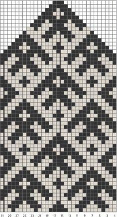 Схема вязания рукавиц с архангельским орнаментом