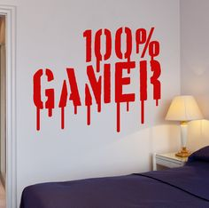 Wall Decal Gamer Video Games Computer Boys Room Vinyl Stickers (ig2655) #Wallstickers4you
