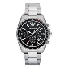 Emporio Armani Men's Men's Sigma Chronograph Stainless Steel Watch - Silver - One Size Emporio Armani, Armani Men, Hermes, Foot Bracelet, Bracelet Watch, Cool Watches, Watches For Men, Atm, Armani Watches