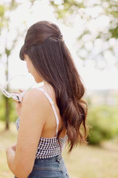 Long hair pull back pin up bumb <3 my fav
