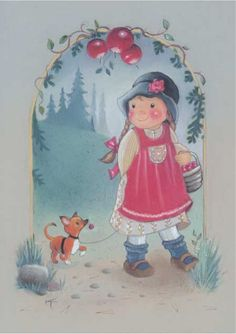 Illustration by Kaarina Toivanen, Finnish Cartoon Kunst, Cartoon Art, Creation Photo, Funny Drawings, Doll Eyes, Old Postcards, Illustrations, Cute Illustration, Craft Activities