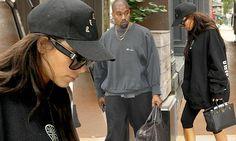 Kim Kardashian hits the gym in Kanye West's Pablo sweatshirt