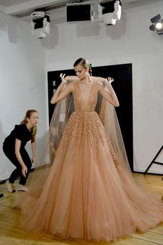 Backstage Elie Saab Fall Couture 2014
