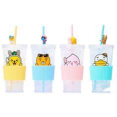 Kakao Friends Official Goods Straw Cold Cup Muzi Ryan Apeach Tube Tumbler Mug  #KakaoFriends