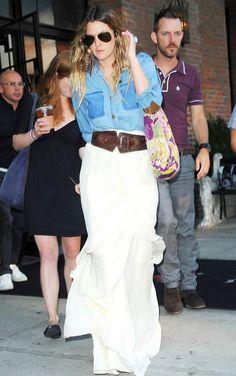 cinto -  drew-barrymore-street-style-white-skirt