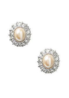 ideeli | ERWIN PEARL Framed Pearl Earrings