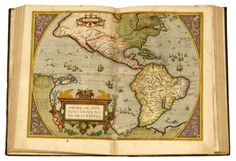 (Ortelius, Abraham.)[ Theatrum Orbis Terrarum.] [Antwerp, 1603, 1609.] Folio, 18th-century Spanish tree sheep, spine gilt; scuffed, extremities rubbed. 63 double-page, hand-colored map sheets. Bound from the Latin-language editions of 1603 & 1609. #FreemansAuction