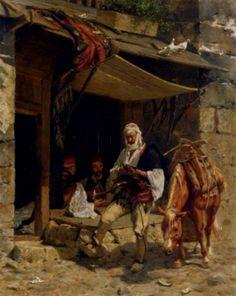 Osmanische Soldaten bei einer Rast (Otto Didrik Ottesen - )