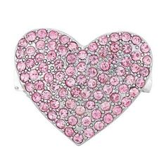 Pink Rhinestone Heart Dog Hair Barrette Clip for Small Dogs - http://www.thepuppy.org/pink-rhinestone-heart-dog-hair-barrette-clip-for-small-dogs/