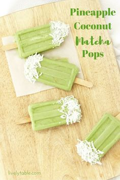 Tropical Pineapple Coconut Matcha Popsicles are the perfect cool treat on a hot day! Vegan, gluten free, and less than 60 calories each. (ad)   Via livelyable.com @livelytable