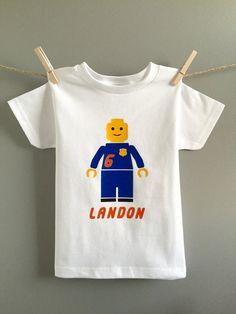 Lego Shirt, Lego Birthday, Lego Police Shirt Personalized
