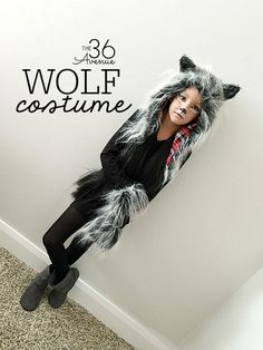 Halloween Costumes - This Wolf Costume is supers cute, comfortable and perfect for kids and adults. You can do this DIY Wolf Makeup with items that you may already have at home!