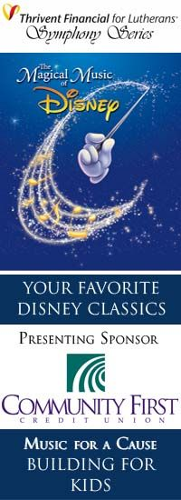 Fox Valley Symphony performs DISNEY on March 17, 2013 with a huge video screen showing clips and photos!