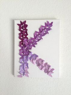 Purple Lavender Ombre butterfly Letter Wall Decor Baby Girls Boys Nursery  Room Letters Decor Party W 33a2167f9e