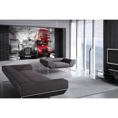 """Interior view """"Taxi and Bus"""", London, Giant Art XXL-Poster  (175 x 115 cm)"""