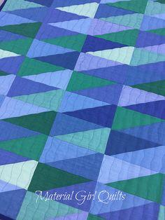 Oakshott baby blues quilt by Amanda Castor of Material Girl Quilts