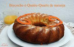 BIZCOCHO ó QUATRE QUARTS de NARANJA   Cocinar en casa es facilisimo.com