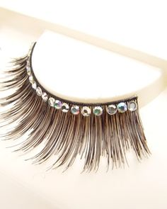Eyelashes w Swarovski rhinestones 1L335 Black | Dancesport Fashion @ DanceShopper.com