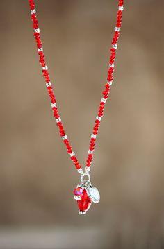 Red Necklace, Arrow Necklace, Semi Precious Gemstones, Glass Beads, Pearls, Facebook, Crystals, Diamond, Pendant