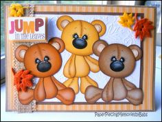 Fall Greeting Card created by PAPER PIECING MEMORIES BY BABS