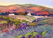 December Light, View from our Villa Italian Paintings, American Art, Landscape, December, Villa, Artist, Inspiration, Biblical Inspiration, Scenery