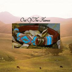 Beaded  Licorice Leather Bracelet   Country  4a by Outoftheflames