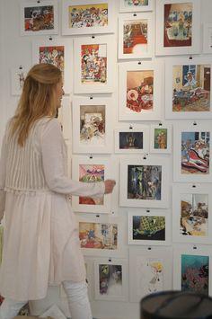 sara nilsson bergman,illustrations,exhibition,white woman