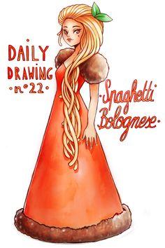 Cool Cartoon Drawings, Cute Food Drawings, Cute Kawaii Drawings, Kawaii Doodles, Cute Animal Drawings, Kawaii Art, Chibi Food, Candy Hair, Cute Girl Drawing