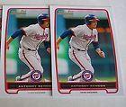 2 2012 Bowman Prospects ANTHONY RENDON Baseball card lot WASHINGTON NATIONALS