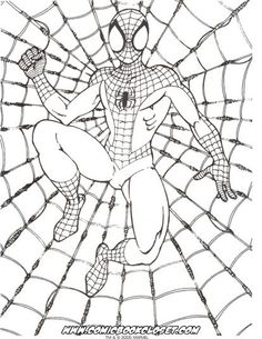 SpiderMan Coloring Pages 1 Kids Printables