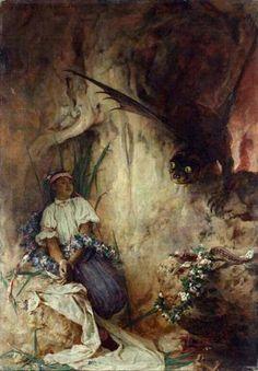 Black: colors in Polish folklore (part – Lamus Dworski Black Soil, Medieval Manuscript, Fantastic Art, Figurative Art, Folklore, Traditional Art, Dark Art, Female Art, Mythology