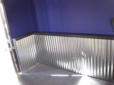 """HOW TO! Adding a Corrugated Metal """"Wainscoting-Type"""" Wall to Your room. Would be…"""