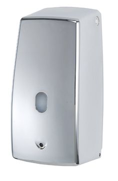Der elektrische Seifenspender Treviso Chrom funktioniert berührungslos und ist daher sehr hygienisch.  Durch den Infrarot-Sensor wird automatisch eine ausreichende Menge Seife ausgegeben, der Spender tropft nicht und ist einfach nachfüllbar. Gesehen für € 39,99 bei kloundco.de.