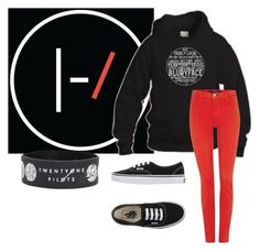 """""""blurryface"""" by seeya183 on Polyvore featuring J Brand, Vans, women's clothing, women, female, woman, misses and juniors"""