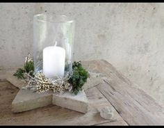 star board candle holder base for christmas holiday decor.